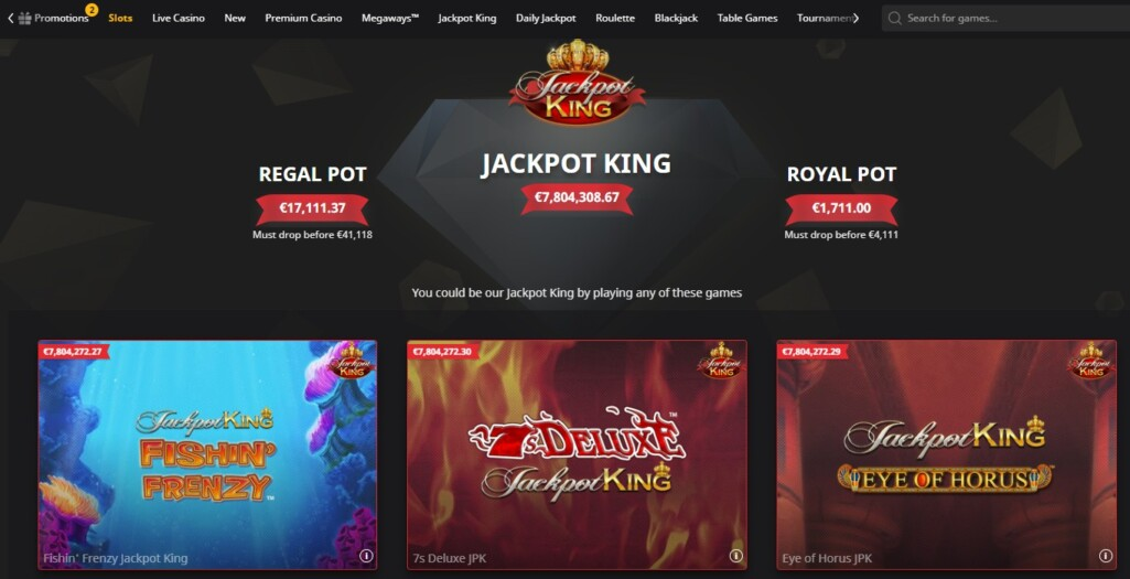 Jackpot King Betfair Casino