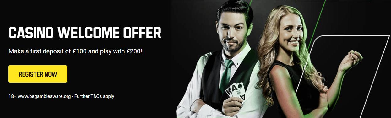 Unibet Casino Welcome Offer