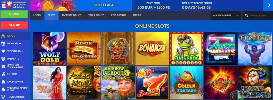 EU Slot Games Lobby