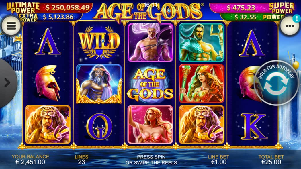 Age of the Gods Slot in Action