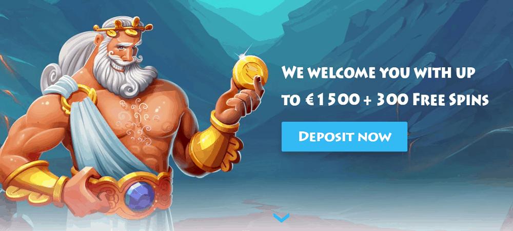 The bonus at casinogods spans 4 deposits