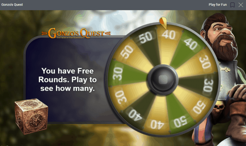 Free Spins Gonzo Wheel Activated