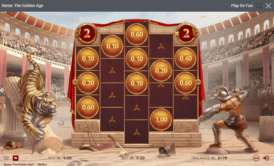 Rome th Golden Age Free Spins Game