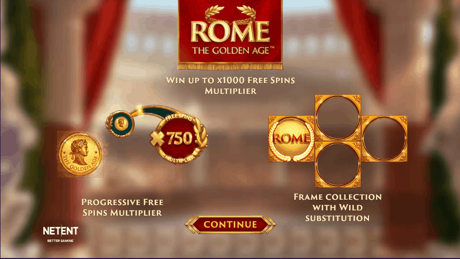 Rome the Golden Age Slot Features