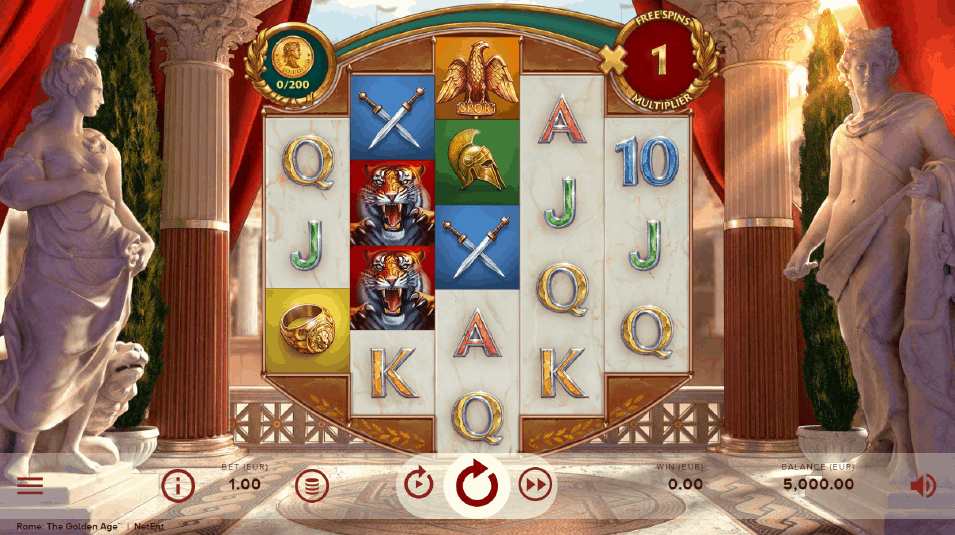 Rome the Golden Age Slot Reels