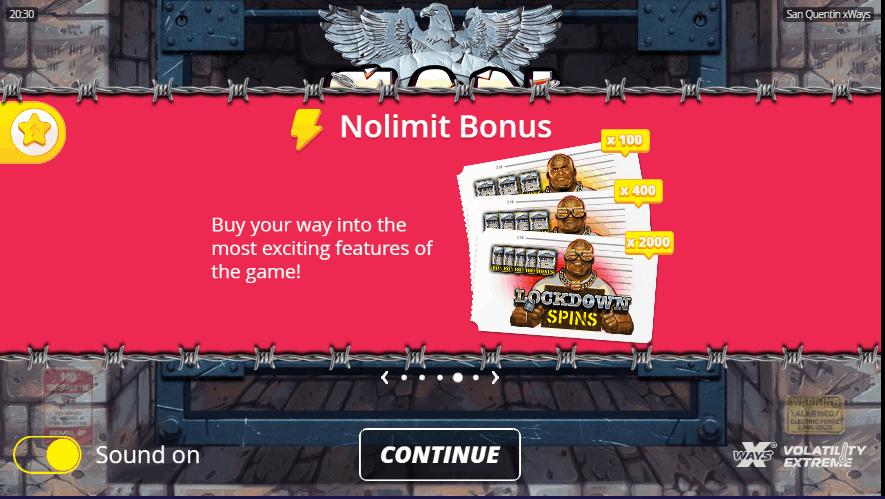 San Quentin Bonus Buy Feature