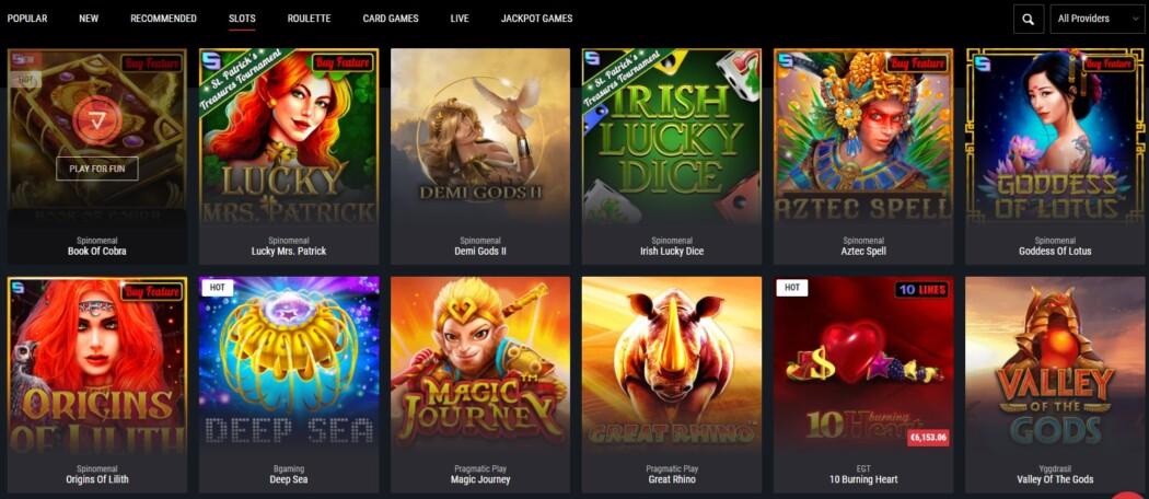 Cobra Casino slots Page