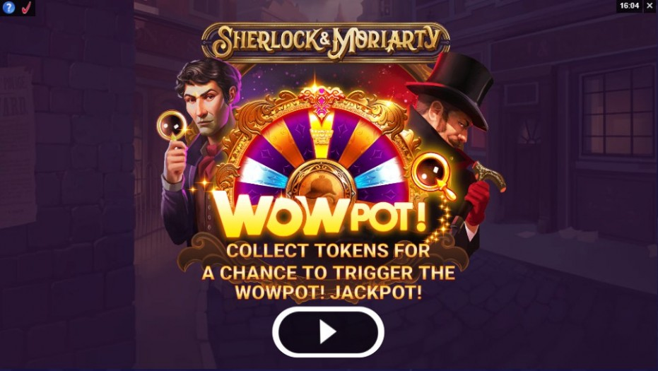 During the game progressive tokens (the magnifying glass token) appears on high symbols on reels 1, 3, and 5. One of these tokens collected on the current spin can contribute to the chance of triggering a jackpot.